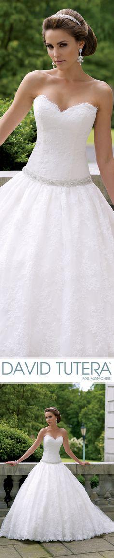Style No. 113213 ~ Della, Strapless lace over taffeta ball gown wedding dress <3<3