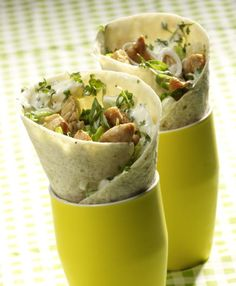 chicken wraps with pineapple