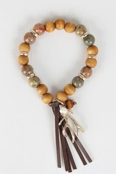 Antler Charm Beaded Bracelet – Style Lavish