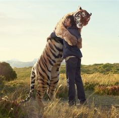 Grown-up Calvin and Hobbes in real life...