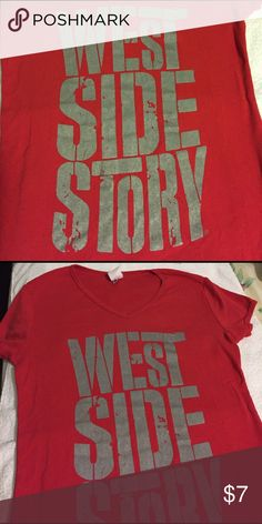 West Side Story t shirt Red West Side Story t shirt with gray lettering. Tops Tees - Short Sleeve