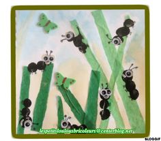 FOURMIS Empreintes de doigts, papier de soie, peinture à l'eau, gommettes mousse.... Insect Activities, Craft Activities, Preschool Crafts, Insect Crafts, Bug Crafts, Spring Art Projects, Spring Crafts, Art Curriculum, Quilling Patterns