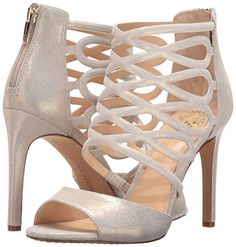 """Vince Camuto """"Kirsi"""" gold-nugget-leather high-heeled dress sandals"""