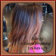 Copper balayage by Laura Terpening at Salon Antebellum is St. Louis