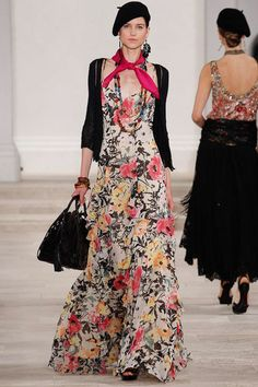 Hannah Jeffries, floral print in the Ralph Lauren collection s/s2013