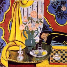ALONGTIMEALONE: colin-vian:    Henri Matisse - Harmony in yellow...