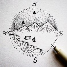 And it's Friday! Have a great weekend everyone! • • • • • • • #illustration#design#art#blackwork#design#graphicdesign#artist#ink#compass#outdoors#camping#adventure#campfire#instaart#sketchbook#doodle#drawing#artist#dotwork#fineliner#minimal#creativity#beautiful#nature#rva#getoutthere#travel#betheadventure#coffee#simple#vsco#friday