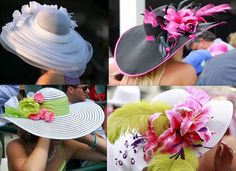 kentucky derby hats 2011   Look at these hats with feathers, flowers and fun!