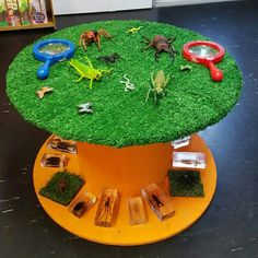 Bug table using cable reel                                                                                                                                                     More