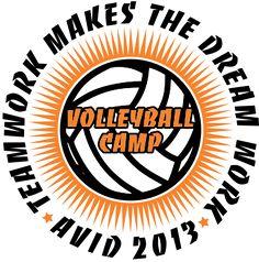 97bb461ad IZA DESIGN custom volleyball camp shirts. Summer Volleyball Camp T-Shirt  Design - Extruded