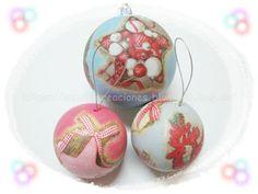 SanDryCreaciones: Bolas de Navidad decoradas con Servilletas