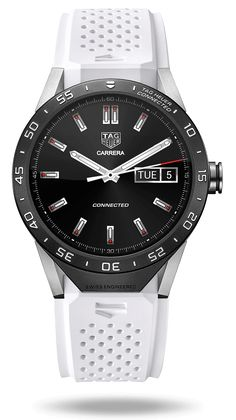 TAG Heuer's Android Wear watch's most important detail is mechanical Mens Designer Watches, Luxury Watches For Men, Gents Watches, Cool Watches, Tag Watches, G Shock, Tag Heuer Monaco, Wear Watch, Watch 2