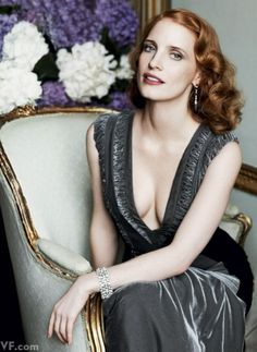 Jessica Chastain, photographed by Mario Testino. Styled by Jessica Diehl for Vanity Fair September 2012