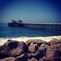 Malibu Pier, looking blue-tiful as always. #Malibu #malibupier #ocean #waves