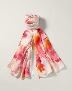 Washed floral scarf, $40