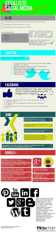 infografik - checkliste social media