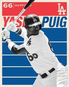 Los Angeles Dodgers Yasiel Puig photo art