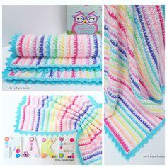 CROCHET PATTERN - Ice cream Crochet Blanket by KerryJayneDesigns
