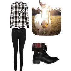 Horse back riding by alannaxjonnesx on Polyvore featuring polyvore, fashion, style, Rails, Paige Denim and Steve Madden