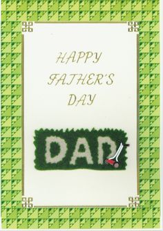 Father's Day card 2010; gardening theme