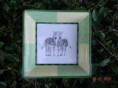 HERMES Porcelain Change Tray SIGNED - Zebra Figures New w/ Box - MINT/ Authentic | eBay