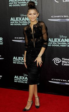 Zendaya at the premiere of 'Alexander & the Terrible, Horrible, No Good, Very Bad Day' in LA (October 6th)