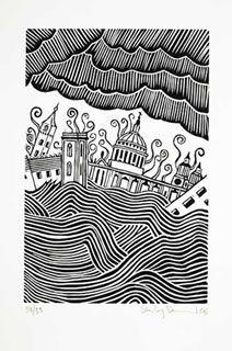 lino print Stanley Donwood