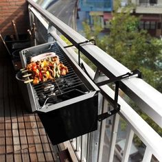 balcony railing barbecue