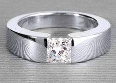 Larentia in white gold with a 0,73 ct. princess diamond #Yorxs #Diamantring