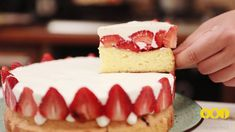 ➤ Клубнично йогуртовый пирог! Cheesecake, Desserts, Food, Tailgate Desserts, Deserts, Cheese Cakes, Eten, Postres, Dessert