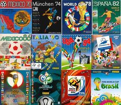 Panini Stickers albums through the history 1970-2014
