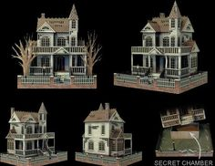 Ghost House Papercraft... this is THE BEST SITE for spooky paper houses and stuff....marvelous!