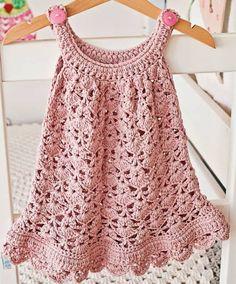 Resultado de imagem para vestido infantil de croche