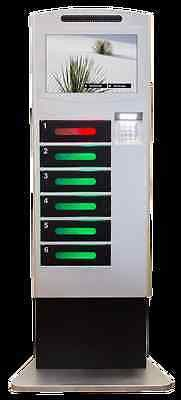 """SECURE CELL PHONE CHARGER CHARGING LOCKER Great Shape 19"""" Touch Screen Used"""