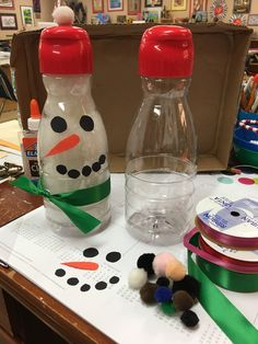 Snowman Recycled Creamer Bottle. This is great for the young artist.