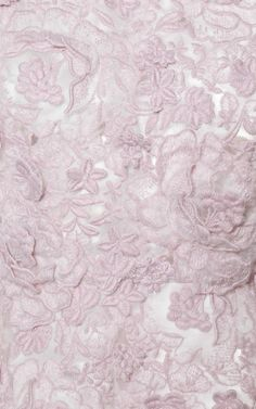 Brushed Floral Macrame Dress With Petal Skirt by Giambattista Valli for Preorder on Moda Operandi