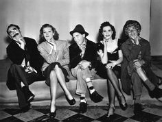 Groucho Marx, Lucille Ball, Chico Marx, Ann Miller, and Harpo Marx star in Room Service