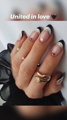 Chic Nails, Glam Nails, Stylish Nails, Trendy Nails, Funky Nails, Dope Nails, Edgy Nails, Nail Design Stiletto, Elegant Nails