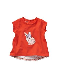 Baby Girl's Dual Fabric T-Shirt
