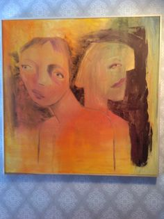 "Title ""Sad"", 80*80 cm, Sold"