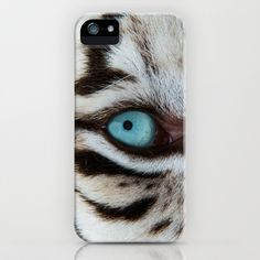 WHITE TIGER BEAUTY iPhone & iPod Case by Catspaws - $35.00
