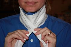 Tutorial: How to Sew and then tie a Regency men's neckcloth / cravat