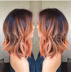 Peach tones tegans hair with maybe burgundy