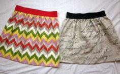 Easiest skirt to sew (x2.) One yard of fabric + elastic