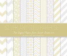 Just Peachy Designs: Free Silver and Gold Digital Paper Set