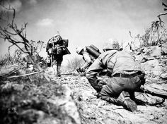Our front lines - the ridges gave Marines a lot of trouble. February 27, 1945 - Iwo Jima - 1945