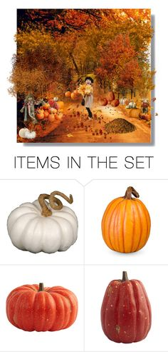 """""""Our backyard Pumpkin Patch"""" by luna-fim ❤ liked on Polyvore featuring art"""