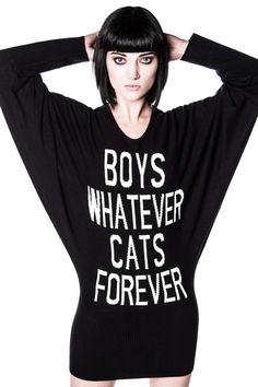 Boys/Cats Knit Dress [B]