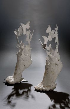 Flyingfeet;cement,iron;cm40x40x30;2008... Credit: Annalu Boeretto (Click to Support Artist)