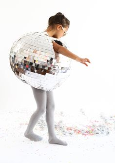 chloe can wear this and spin round and round like a human disco ball